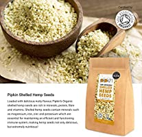 Pipkin Semillas Peladas de Cáñamo 100% Orgánicas, No-GMO, Peladas ...