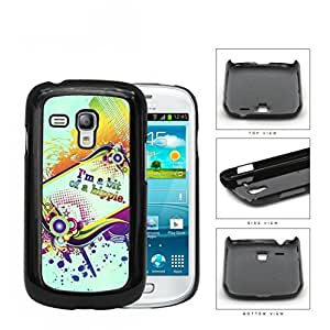 I'm A Bit Of A Hippie Quote Rainbow Color Hard Plastic Snap On Cell Phone Case Samsung Galaxy S3 SIII Mini I8200