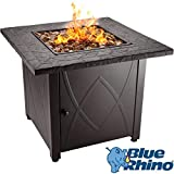 Blue Rhino Outdoor Propane Gas Fire Pit (Copper Fireglass)
