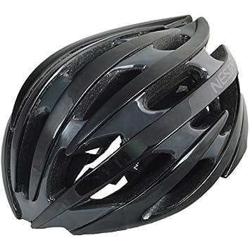 Nesta Sidium Casco de Ciclismo, Unisex Adulto, Negro Brillo/Gris, Talla Única