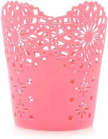 LAAT porta penne organizer per pennelli da make-up 10cmx11.5cmx7.5cm Plastica Rose Vaso in plastica per fiori