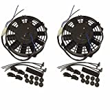 2 sets of 8'' Heavy Duty Straight Blade Electric Radiator Cooling Fan 12v
