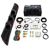 GlowShift 1998-2002 Dodge Ram w/ A-Pillar Speaker Diesel Gauge Package Black Face Boost, EGT & Fuel Pressure