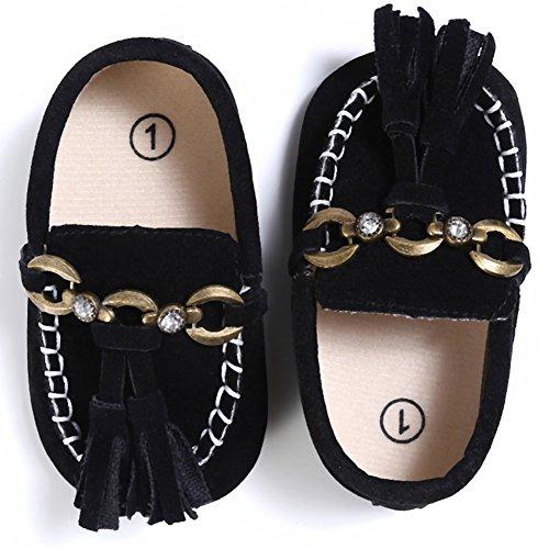 Domybest Baby Boots Art Schuh Mokassins Säugling PU Veloursleder Kleinkind weiche Tassels Troddel Schuhe 06