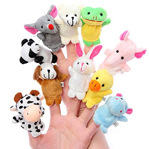 Kentop10 PCS Juguete de la marioneta del Dedo Juguetes educativos Cuentacuentos Doll