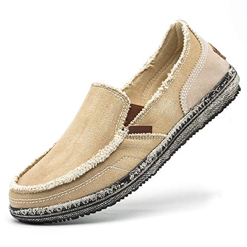 Ocasionales Soft Gris Respirables Para En Hombre Alpargatas Bombas Yate Marrón Zapatos Tamaño 40 De Eu Casual Jincosua color Slip Sqw7Cg