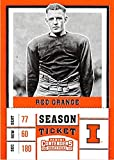 Red Grange football card (Illinois Fighting Illini The Galloping Ghost NCAA College) 2017 Contenders Draft Picks Season Ticket #83