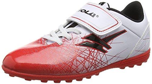 Gola Zeus Vx, Botas de Fútbol para Niños Blanco (White/Red/Black)