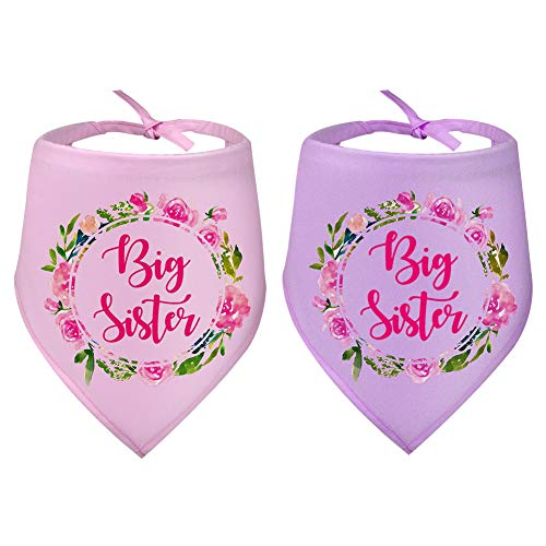 Big Sister Dog Bandana Triangle Bibs Scarf Accessories for Dogs Pets Cat