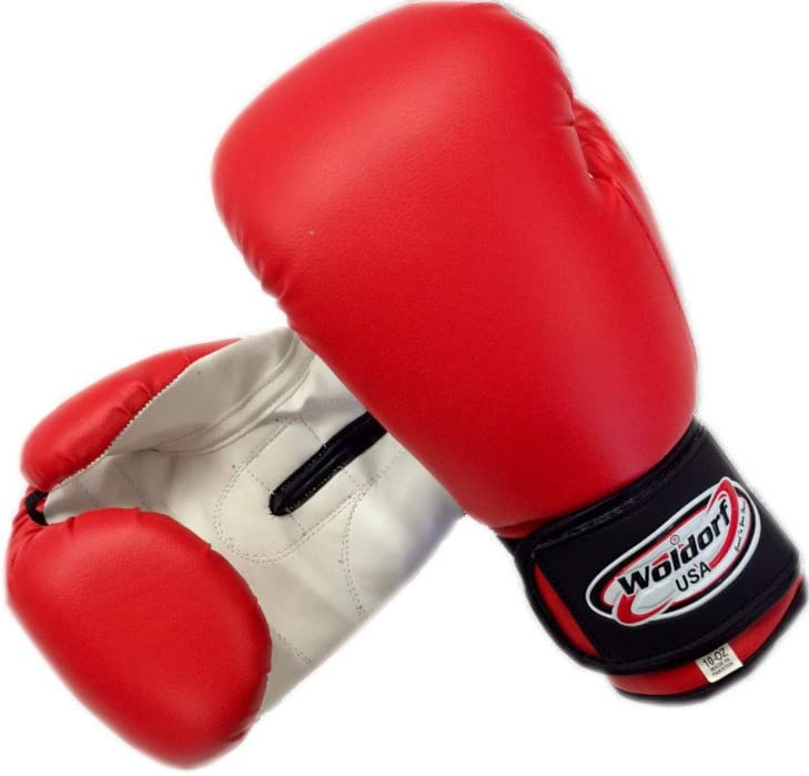 Woldorf USA Boxing Bag Gloves in Vinyl 10oz赤
