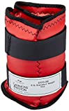 Sammons Preston Cuff Weight, 8 lb, Red, 2 Velcro Straps & D-Ring Closure, Grommet for Easy Hanging, Steel Ankle & Wrist Weights are Lead Free, Exercise Tool for Strength Building & Injury Rehab