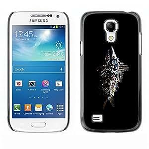 TopCaseStore / la caja del caucho duro de la cubierta de protección de la piel - Abstract Junk Fish Sculpture - Samsung Galaxy S4 Mini i9190 MINI VERSION!