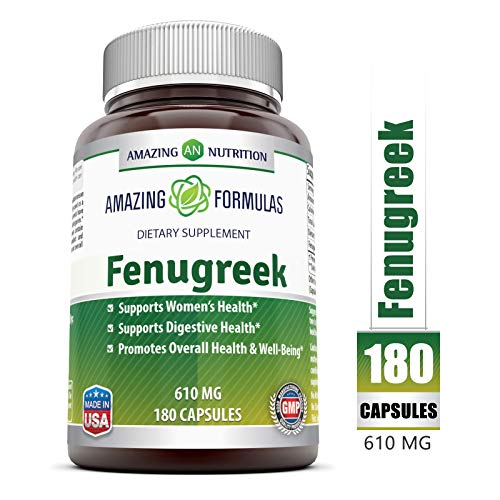 Amazing Formulas Fenugreek Seed Supplement 610 Mg 180 Veggie Caps (Benefits Of Methi Powder For Weight Loss)