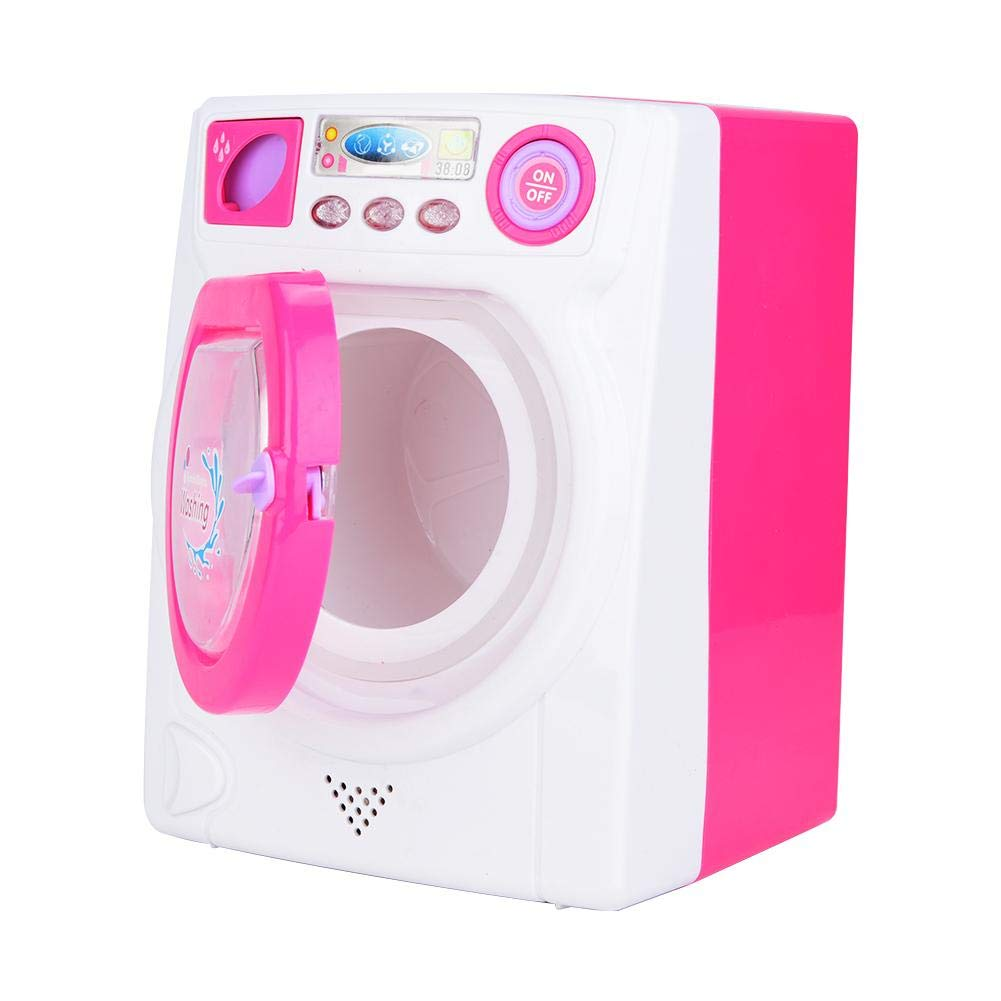 Bnineteenteam Washing Machine Toy,Miniature Laundry Play Set,Household Pretend Play Toys Kit for Kids Toddlers Girls