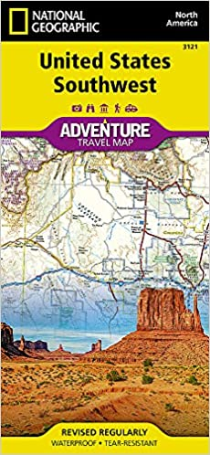 United States, Southwest National Geographic Adventure Map ...