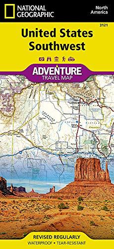 United States, Southwest (National Geographic Adventure Map) (Maps Usa Southwest)