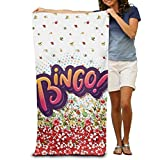 Super Absorbent Beach Towel Bingo Polyester Velvet Beach Towels 31.551.2 Inch
