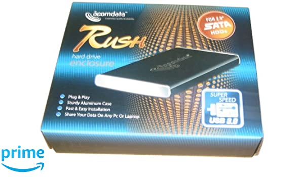 acomdata 2.5 Rush de Aluminio Case USB 3.0 Negro: Amazon.es ...