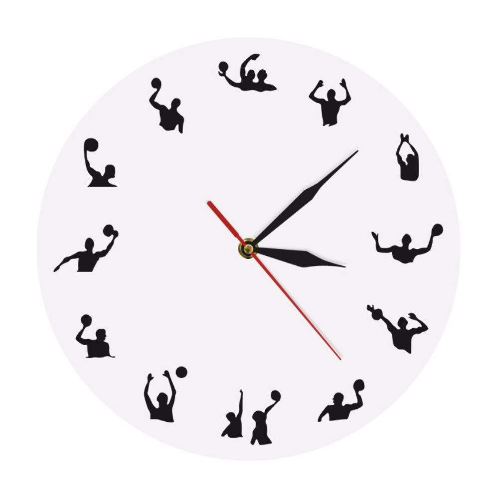 Luzhenyi Polo Acuático Minimalista Moderno Reloj De Pared Pelota ...