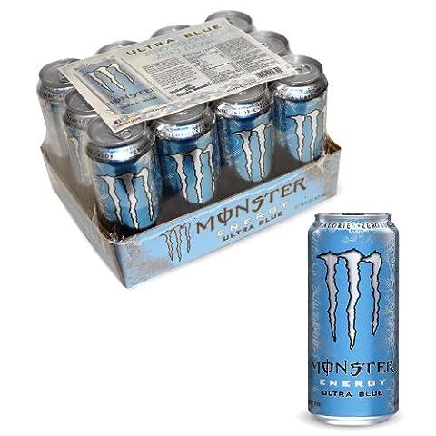 Monster ultra Blue 12pk 16oz. Can (Ultra Blue)
