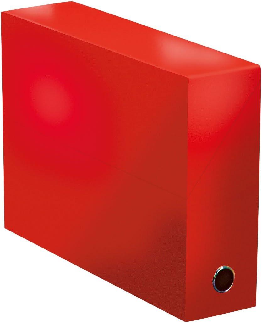 Elba 400081733 color life – Caja de transferencia ancho 9 cm 34 x 25,5 cm Plastificado, color rojo: Amazon.es: Oficina y papelería