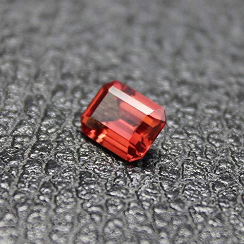 Calvas Madagascar Mandarin Garnet Loose Stone Fancy Faceted Created Gemstone Beads for Jewelry Making DIY Orange Stones Women - (Item Diameter: -