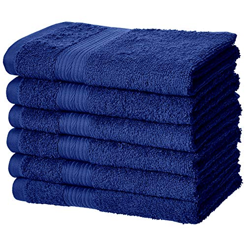 sistant Cotton Hand Towel - 6-Pack, Navy Blue ()