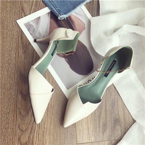 L'Extérieur Chaussures Mode SHOESHAOGE High Mot Fait Heels A Couleur Étudiants unie Femmes Boucle À Un F0Rw1Uqnwv