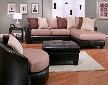 Strange Amazon Com Roundhill Furniture 4 Piece Oxford Sectional Spiritservingveterans Wood Chair Design Ideas Spiritservingveteransorg