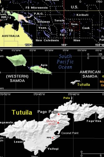Samoa Map - Color Map of American and Western Samoa Journal: Take Notes, Write Down Memories in this 150 Page Lined Journal