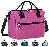 Insulated Lunch Bag Box with Adjustable Shoulder Strap, Water Resistant Leakproof Cooler Bag
