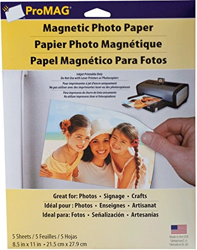 ProMAG 8.5 x 11 Inches Inkjet Printable Magnetic Sheets AFG-12800-CP-PACK