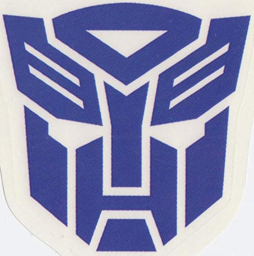 3 Inch Blue Autobot Emblem Decal Symbol Badge Insignia Logo Transformers Robots Removable Peel Self Stick Adhesive Vinyl Decoration Wall Sticker Art Kids Room Home Decor Boy 3 x 3 Inch