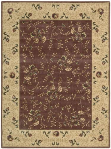 Nourison Somerset Rose Rectangle Area Rug, 5-Feet 3-Inches by 7-Feet 5-Inches 5 3 x 7 5