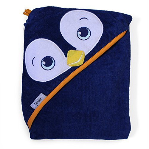 28.4' x 36.4' (72.1cm x 92.4cm) Velour Hooded Towel, Penguin, Frenchie Mini Couture 312
