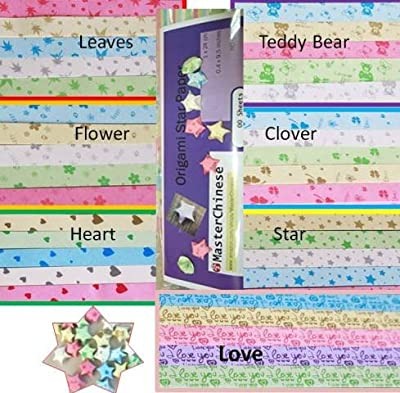 Bear, Clover, Star, Heart, Love Origami Star Paper With Instruction by MasterChinese