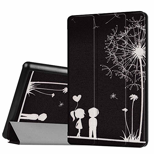 Price comparison product image For Kindle Fire HD 8 Inch,  AMA(TM) Ultra Slim Flip Leather Magnetic Stand Case Cover Holder for Amazon Kindle Fire HD 8 Inch Tablet (2016 Version) (E)