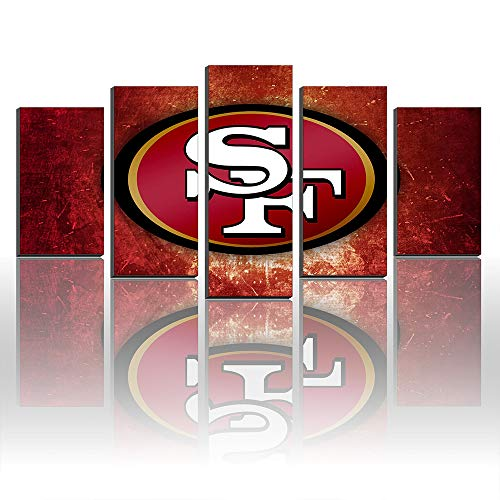(Karen Max Created New Canvas Prints San Francisco 49ers Logo Painting Sport Pictures Home Decor Art)