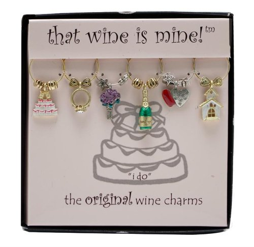 Wine Things WT-1410P I Do Wine Charms, Painted by Wine Things