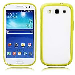 All Five Stars PC + TPU Hybrid Bumper Frame Case Cover Back Skin for Samsung Galaxy S3 I9300 (i9300 Green)