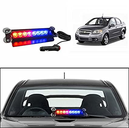 Accedre Police Style Car LED Flashing Lights (Red and Blue