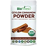 Biofinest Ceylon Cinnamon Powder - USDA Certified Organic Pure Gluten-Free Non-GMO Kosher Vegan Friendly - Supplement for Heart Health, Joint Support, Healthy Blood Sugar Level (500g)