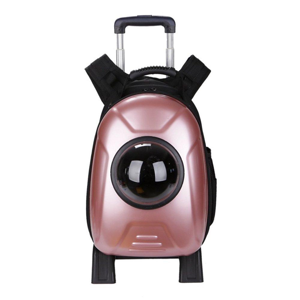 Zhou Yunshan Pet Supplies Traspirante out of The Cat Dog Zaino Portatile Pileble rosso Trolley Bag. Portatile (colore   rosa)