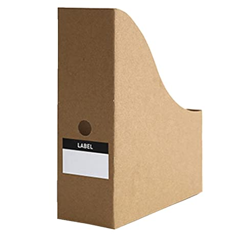 E-Livingstyle Kraft Paper Storage Box Office Creative Magazine File Book Holder Storage Shelf Organizer  sc 1 st  Amazon.com & Amazon.com : E-Livingstyle Kraft Paper Storage Box Office Creative ...