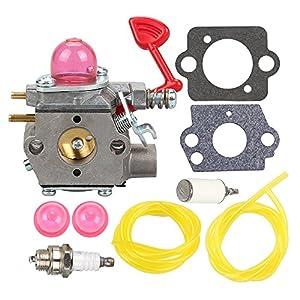 Mckin WT-875 545081855 Carburetor with Fuel Line Filter for Craftsman Poulan Pro Blower BVM200C BVM200VS P200C GBV325 P325 200mph Blower