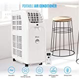 DELLA 8,000 BTU 115V Portable Air Conditioner Cooling Fan Dehumidifier w/LCD Display and Remote Control, UL Listed