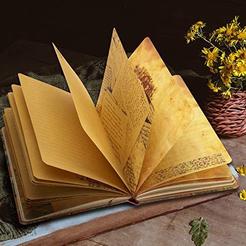 Vintage European Diary Kraft paper Color Illustrations Notebook,Travel brochures,Hand book