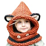 King Star Winter Kids Warm Fox Animal Hats Knitted Scarf Beanies for Autumn Winter