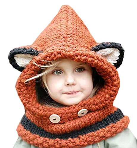 knitted scarf with hood - 5