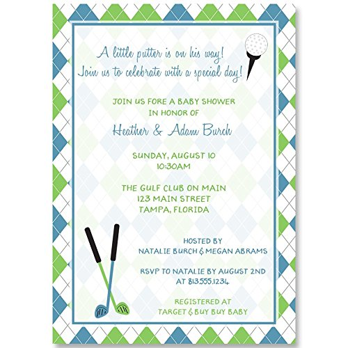 Amazon.com: Baby Shower invitaciones, Little Putter, Golf ...